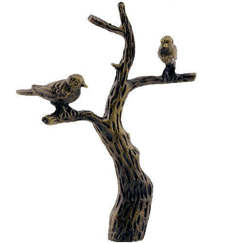 Bird on a Branch AB Lamp Shade Finial
