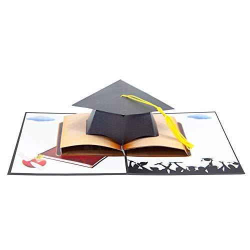Favour Pop Up Glückwunschkarte zur Prüfung. Ein filigranes Kunstwerk, das sich beim Öffnen als Doktorhut entfaltet. TC007