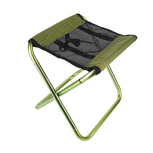 JJZXD Pesca Plegable Silla Verde de Alta Carga portátil al Aire Libre Silla for Que acampa yendo de Picnic en la Playa sillón de Descanso Ultraligero