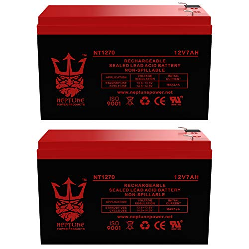 Neptune 12V 7Ah NT-1270 Rechargeable SLA Sealed Lead Acid Battery- 2 Pack