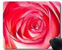 YENDOSTEENカスタムオリジナルマウスパッド、バラの花自然植物マウスパッドステッチエッジ