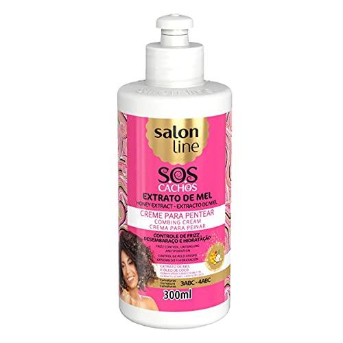 Salon Line Sos Creme Pentear Mel Cachos Intensos 300ml