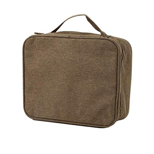 purifyou Classic Insulated Lunch Box - Compact, Easy Wash, Smooth Zipper & Lightweight - Tote Bag & Container, Lunch Bag for Men, Women, Adults (Gentlemen, Olive)