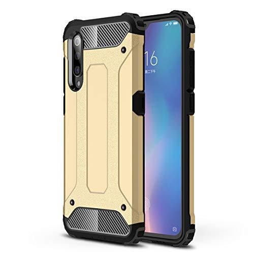 MISKQ Hülle für Huawei nova 6 5G,Internes thermoplastisches Polyurethan + äußeres Polycarbonat,2 in 1 Kombination,Vier Ecken verdickt,Anti-Drop-Telefonkasten(Gold)