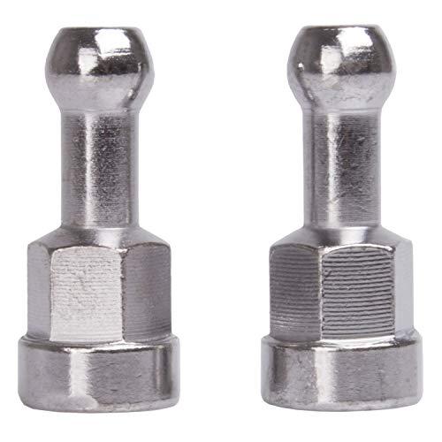 M-WAVE Unisex - volwassenen BF bevestigingssysteem voor vaste as voor fietskar >Single 40, zilver