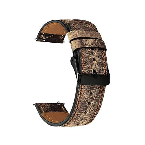 Correa de Piel auténtica de 22 mm para Reloj Samsung Gear de 46 mm para Pulsera Huawei, Color Francia