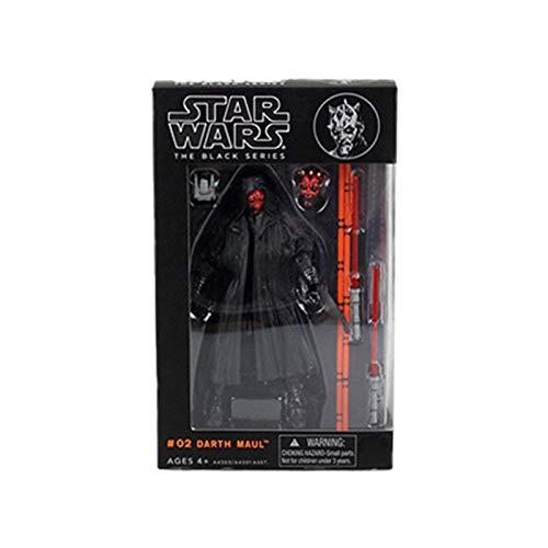 Letaowl Action Figure Black Series 6 Pollice Stormtrooper Boba Fett Darth Vader Kylo Ren Action Figures Giocattolo da Collezione per Bambini Regali di Natale (Color : Darth Maul)