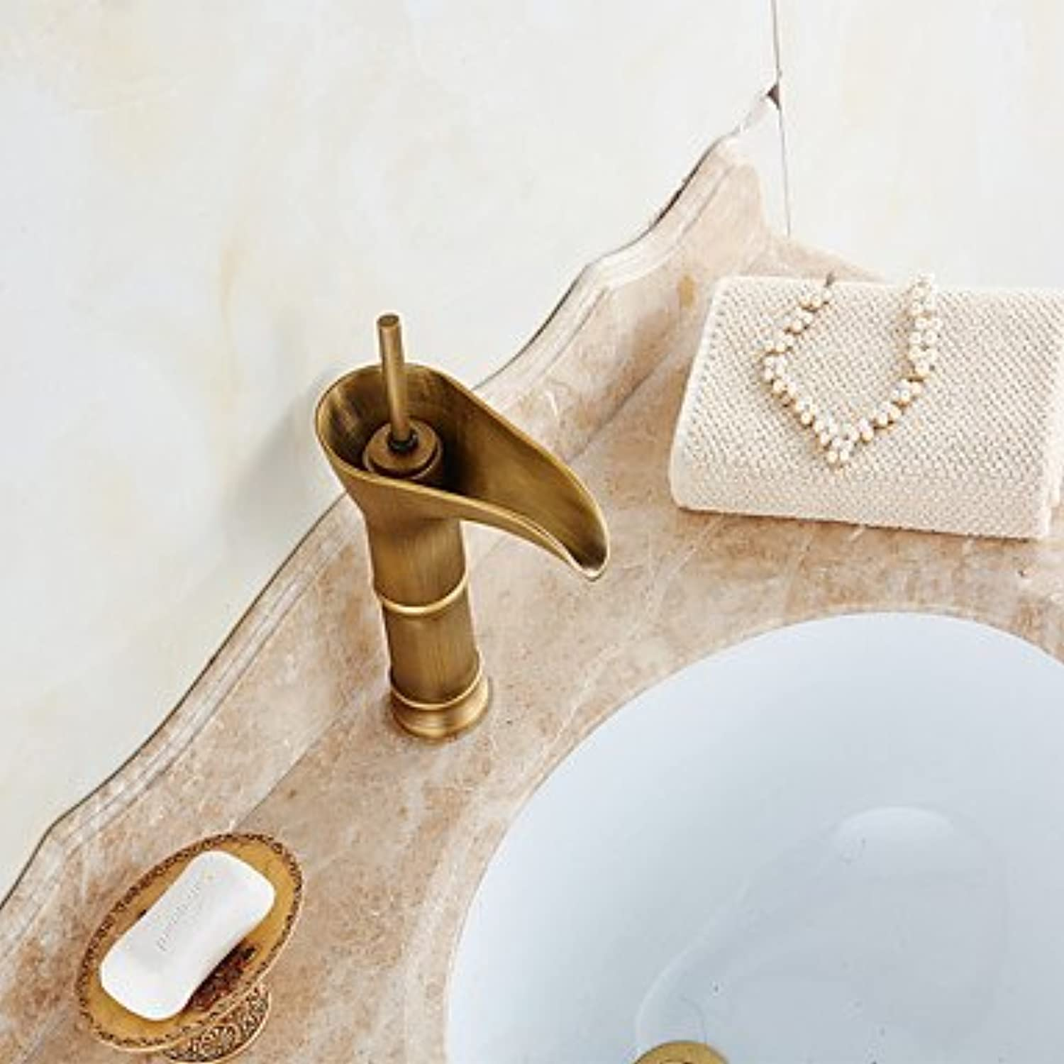 GDS Faucet£? Retro style bathroom sink faucet in antique copper large bathroom sink faucets