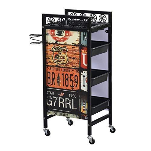 MTYLX Carretilla de Belleza Portátil Multifunción, Carro de Herramientas Auuty Salon Stroller Rack Arber Shop Carrito Multi-Tool Precio,C,35 × 30 × 81Cm