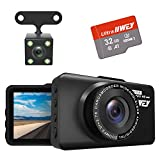 Dash Cam Front and Rear Camera FHD 1080P with Night Vision and SD