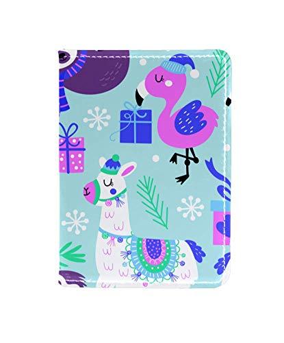 Porta passaporto con stampa di zampe di cane gesso per donne nome e citazione – copertura passaporto – accessori da viaggio per viaggiatori Multicolore Colore 5 4x5.5 inch