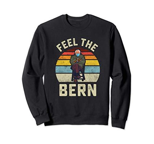 Fühlen Sie die Bern Bernie Sanders Handschuhe Lustige Meme Sweatshirt