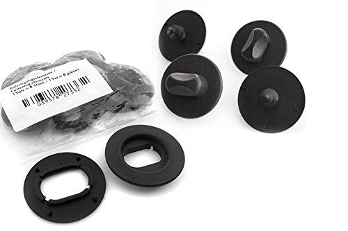 kh Teile Fußmatten Drehknebel (oval) Befestigung + Halter Clip Automatten