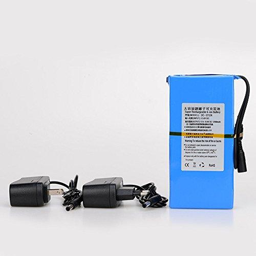 Batería de iones de litio portátil recargable de alta calidad DC 12 V 12000 mAh DC1212A con enchufe