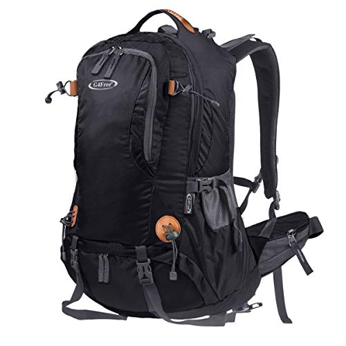 G4Free Hiking Backpack 50L Waterproof Daypack Outdoor Camping Climbing Backpack with Rain Cover for Women Men