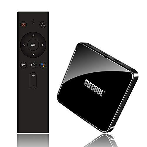 DishyKooker MECOOL KM3 ATV Android 9.0 TV Box 4GB 64GB Amlogic S905X2 4K 2.4G 5G Dual WiFi BT4.0 Set Top Box Negro EU Enchufe