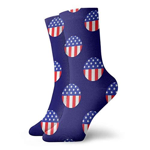 BJAMAJ Unisex Socken Star Stripe Circle Interesting Polyester Crew Socks Erwachsene Socken Baumwolle