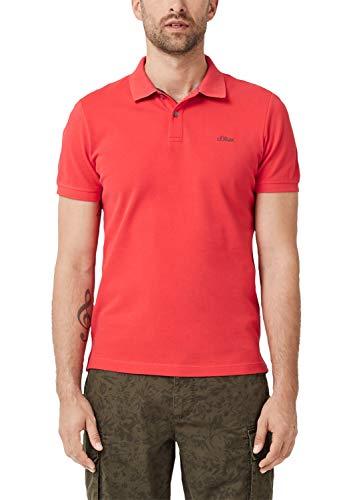 s.Oliver Herren 03.899.35 Poloshirt, Rot (Hyper Red 3214), Large