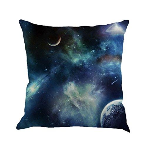 Pillow Case Sofa Home /& Cotton Cover Nebula  Galaxy Decor Cushion Linen Square