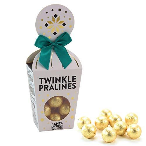 Becky´s Weihnachtliche, goldene Schoko-Pralinen in edler Verpackung mit Schlaufe - 100 g