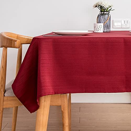 Kokomimi - Mantel de mesa (90 x 150 cm, rectangular, poliéster, antimanchas, para mesa de comedor, picnic y jardín