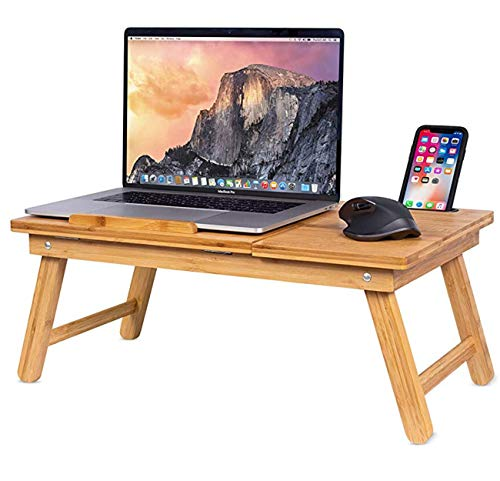 Sofia + Sam Multi Tasking Laptop Bed Tray - Lap Desk Supports Laptops Up to 18 Inches