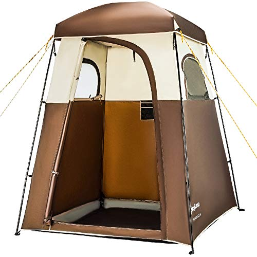 KingCamp Oversize Outdoor Easy Up Portable Dressing Changing Room Shower Privacy Shelter Tent, COFFEE