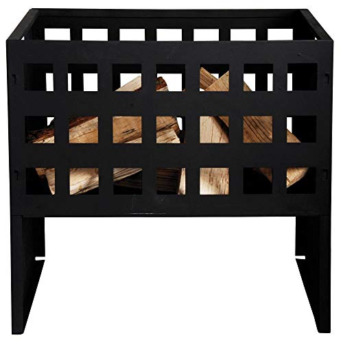 esschert Design ff88 50 x 50 x 31 cm Fire Panier Rectangle en Fonte – Noir