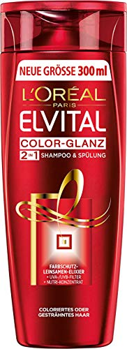 L'Oréal Paris Elvital Shampoo Color Glanz 2in1 (1 x 300 ml)