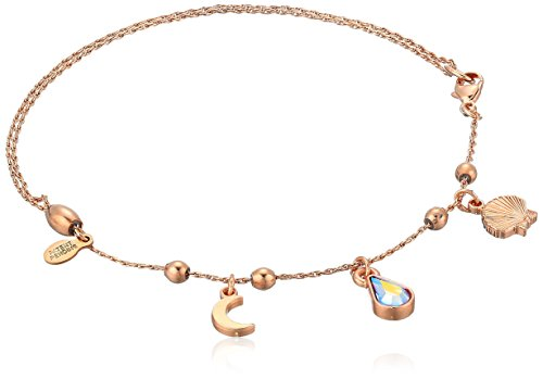 Alex and Ani Womens Oceanside Anklet, Shiny Rose, Expandable
