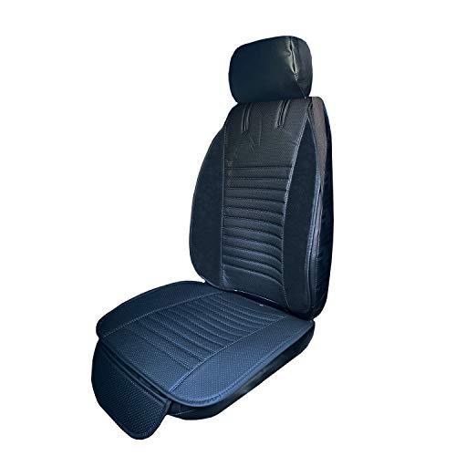 EverFabulous Luxury PU Leather Auto Car Seat Covers 5 Seats Full Set Universal Fit Orange
