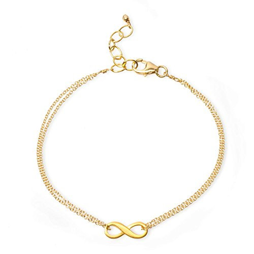 Dogeared Small Infinite Love Infinity Bracelet Gold Dipped