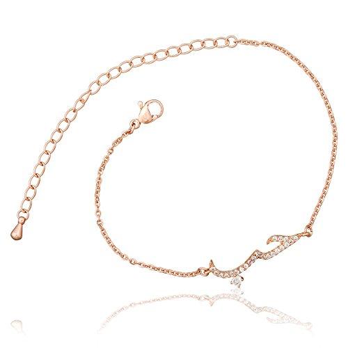 Selia Liebe Armband Schrift Love Arabisch Armreif minimalistische Optik Liebe Edelstahl handgemacht (Rosegold)