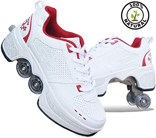 2-In-1 Mehrzweckschuhe Kinder Rollschuhe Schuhe Roller Jungen Mädchen Radschuhe Rollschuhe Turnschuhe Mit Rädern,40