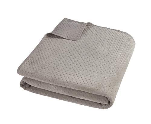 Sleepdown Pinsonic Tagesdecke aus Nerz, Velours, geometrisch, luxuriös, Überwurf für Sofa, Bett, superweich, warm, gemütlich, groß, 240 cm x 260 cm, Polyester, 260 cm x 240 cm