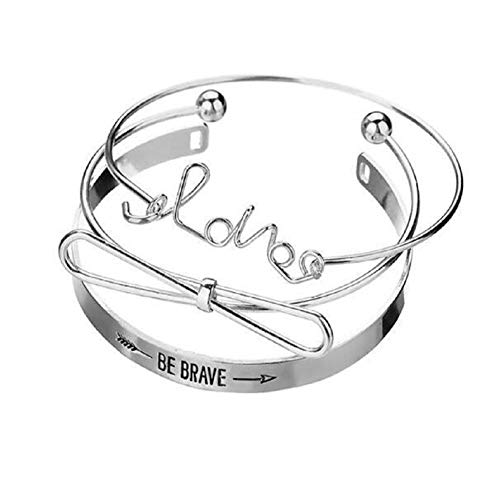 PLUS PO Bangles Bangles for Womens Jewellery Teen Girl Gifts Thank You Gifts for Women Braclets for Women Cheap Best Friend Bracelet Silver
