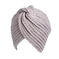 カシミアクロス女性ヘッドスカーフ内側ヒジャーブ冬暖かいウールターバンキャップ無地インドボンネットニットイスラム教徒帽子ヒジャーブキャップ、3