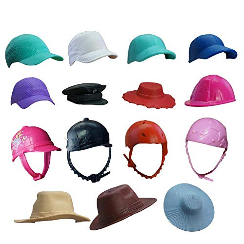 4/10 piezas hechas a mano coloridas muñecas de moda sombreros accesorios de...