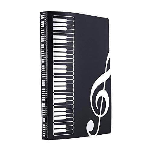 Carpeta de partituras, de plástico intersticial, tamaño A4