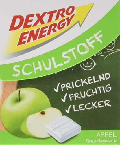 Dextro Energy Schulstoff Traubenzucker Apfel Geschmack   1 Packung (1 x 50g) Dextro Mini in Klickbox   Traubenzucker Vorratspack für Sportler