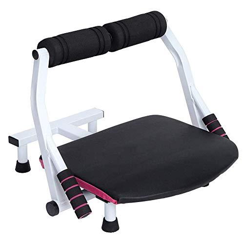 PXDE Bauchtrainer 6 in 1 Core Heimtrainer Core Trimmer Zuhause Fitnessgerät Beintrainer Rückentrainer für Straffung Bauchmuskulatur Ausdauertraining, bis 120kg, Rosa + Schwarz,Rosa