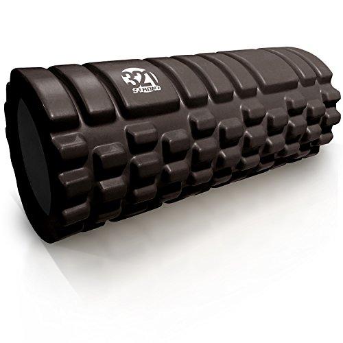 321 STRONG Foam Massage Roller - Deep Tissue Massager For Your Muscles & Back, Black