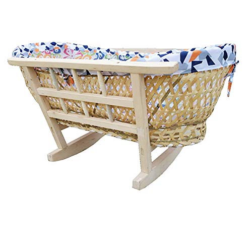 Check Out This YXGH@ Baby Moses Basket Baby Cradle Bedold-Fashioned Shake Nest Bionic Anti-Shock Tra...