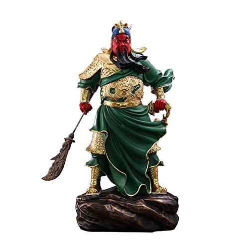 Estatuas de Feng Shui Lifelike Guan Gong Dios de la estatua de la riqueza Túnica verde / Roba Roja Guan Yu Feng Shui Decor Decoración Inicio Oficina Decoración Adornos Tabletop Ornamentos Buena Lucky