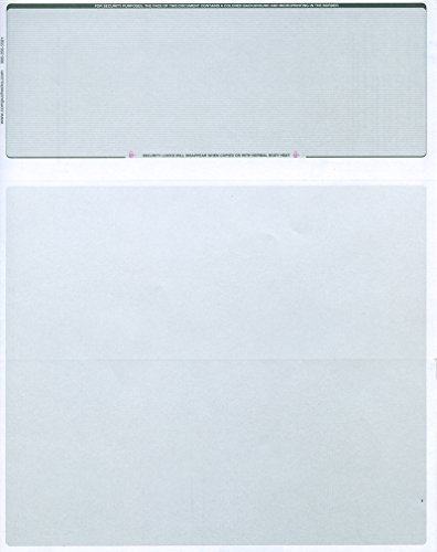 250 Blank Check Stock - Check on Top Business Voucher - Green Pinstripe