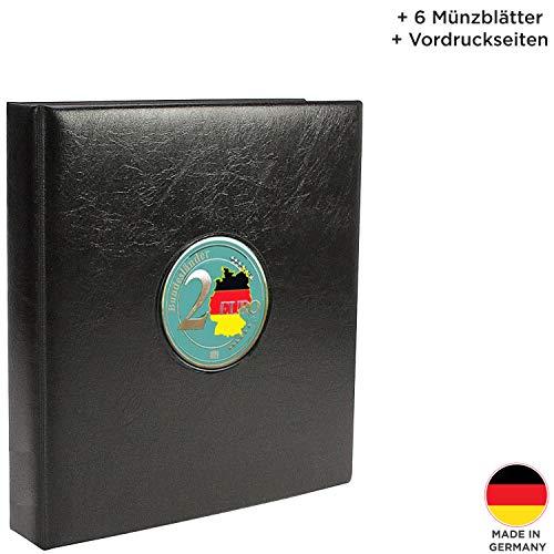 SAFE 7345 PREMIUM 2 Euro Münzen Sammelalbum Deutsche Bundesländer 2006-2021- Münzsammelalbum - für Ihre Coin Collection + 6 Münzblättern & farbigen Vordruckblättern
