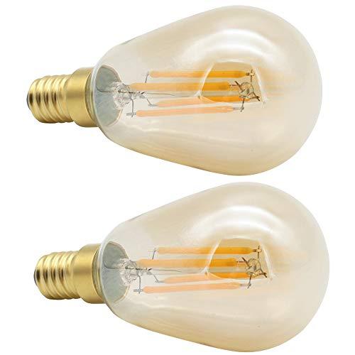 YSSMAO ST45 LED Filamento Lámpara Antigua Edison Bulb Crystal Light Source Gold 220V 4W E14 Pequeño Tornillo Boca 2 Paquete