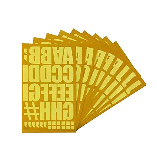 Magfok Iron on Transfer Gold 2 Inch Flock Letters, 9 Sheet (Gold)
