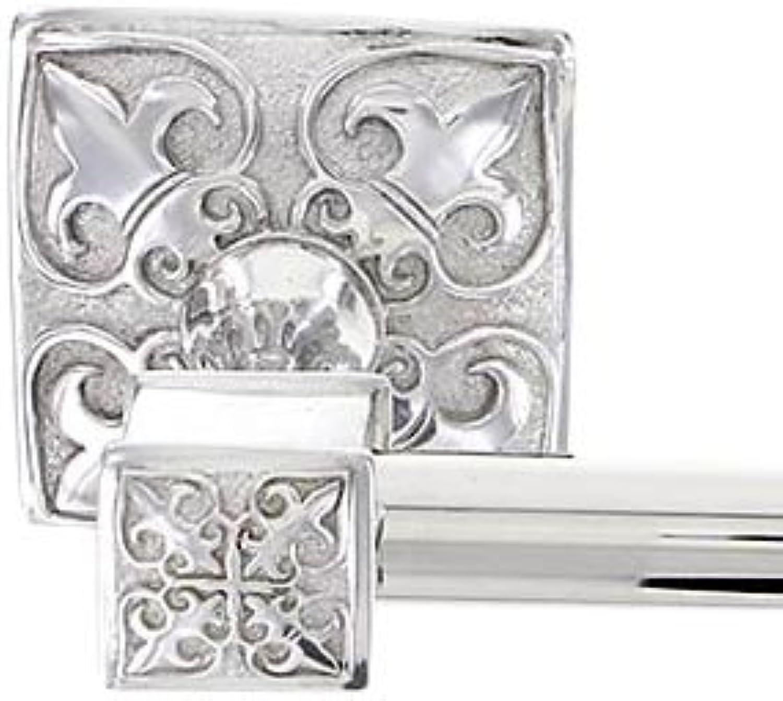 Vicenza Designs TB8013 Fleur de Lis Towel Bar, 24-Inch, Polished Nickel