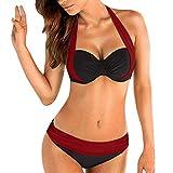 Mujer Sólido de Volantes Bikini de una Sola Pieza Push-Up Pad Traje de baño Traje de baño Ropa de Playa Trajes de baño para Mujer, Mujeres más Nuevo Bra Bikini Impreso Bohemia One Piece